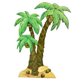 Jungle Palm Trees Kit (set of 2)