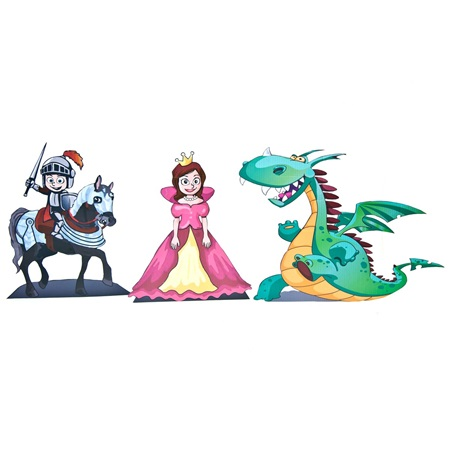 Dragon, Princess, and Knight Kit