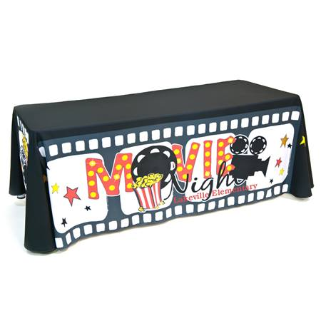 Personalized Movie Night Table Throw