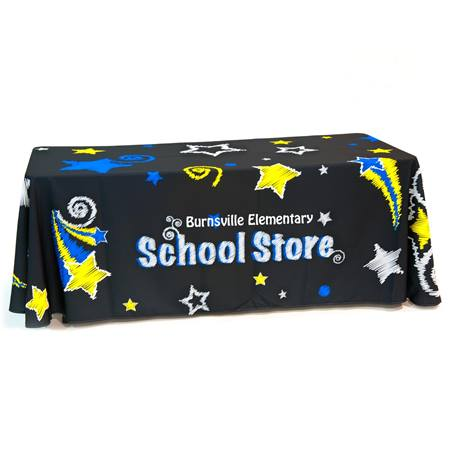 Personalized School Store Table Throw - Stars
