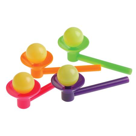 Blow Cup and Ball Games