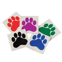 Paw Print Temporary Tattoos - 144/pkg