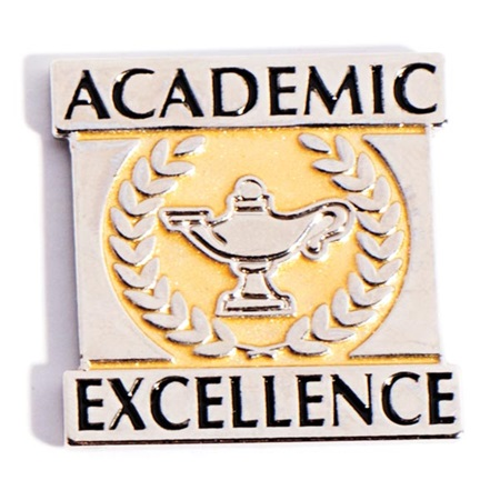 Academic Excellence Award Pin - Gold and Silver
