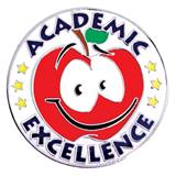 Award Pin - Academic Excellence Smiley Face Apple