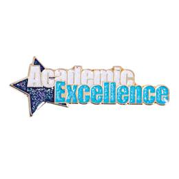 Academic Excellence Award Pin - Glitter Star