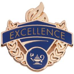 Academic Excellence Award Pin - Excellence/Blue & Gold