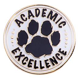 Academic Excellence Award Pin - Black Paw