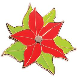 Poinsettia Lapel Pin