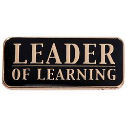 Leadership Award Pin - Leader of Learning