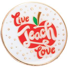 Teacher Award Pin - Live, Teach, Love