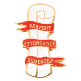 Attendance Award Pin - Perfect Attendance Semester