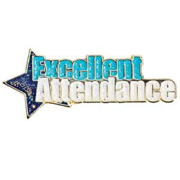 Excellent Attendance Award Pin - Blue Star