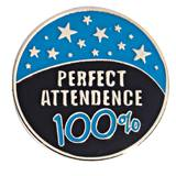Attendance Award Pin - 100% Perfect Attendance