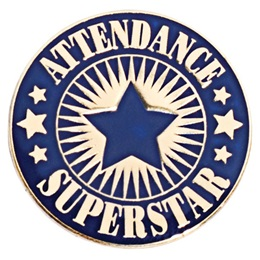 Blue Attendance Superstar Pin