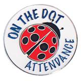 Ladybug On the Dot Attendance Pin