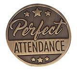 Attendance Award Pin - Brushed Metal Stars