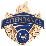 Attendance Award Pin - Blue/Gold