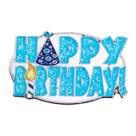 Glitter Award Pin - Happy Birthday