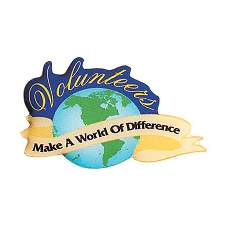 Volunteer Award Pin - Volunteers Make a World of Difference