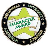 Character Award Pin - Star and Words