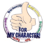Award Pin - Thumbs Up Character