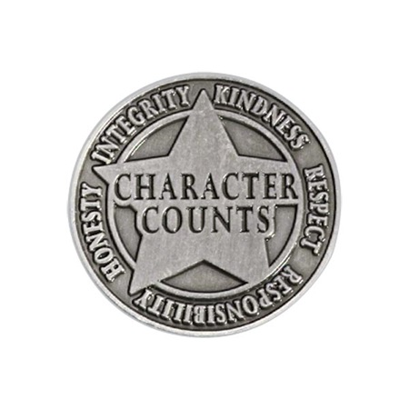 Character Award Pin- Character Counts Silver Star