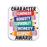 Character Award Pin - Pencil Character Traits