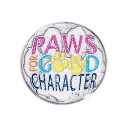 Character Award Pin - Paws For Good Character Glitter