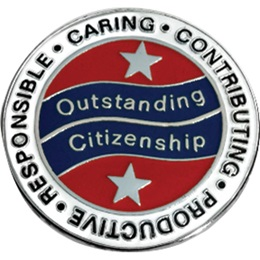 Citizenship Award Pin - Words