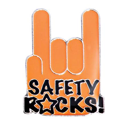 Award Pin - Safety Rocks!