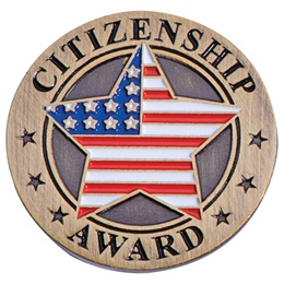 Citizenship Award Pin - American Flag Star