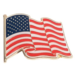 Citizenship Award Pin - Waving USA Flag