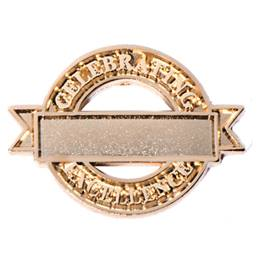 Personalized Award Pin - Gold Celebrating Excellence