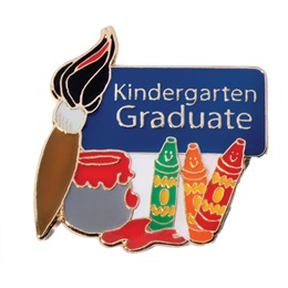 Graduation Award Pin - Paints/Crayons Kindergarten Graduate