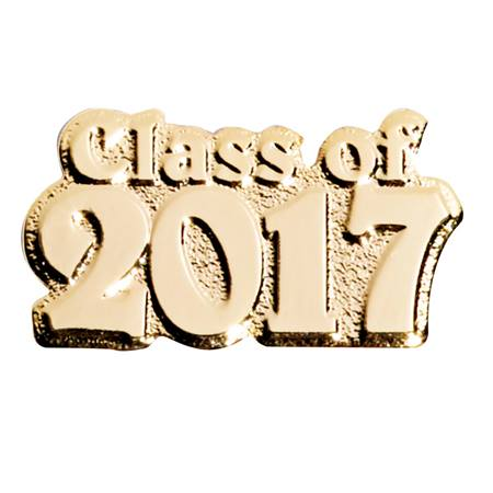 Award Pin - Class of 2017 Gold Tone
