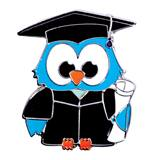 Award Pin - Graduation Owl