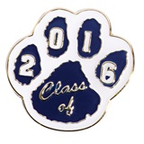 Award Pin - Class of 2016, Blue and White