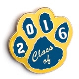 Award Pin - Blue/Gold Paw Class of 2016