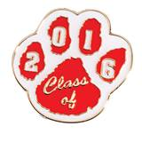 Award Pin - Class of 2016, Red and White