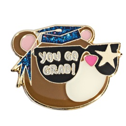 Graduation Award Pin - Glitter Go Grad Bear