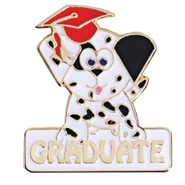 Graduation Award Pin - Graduate Puppy
