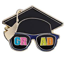 Graduation Award Pin - Cool Grad Sunglasses