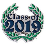 Blue Class of 2019 with Wreath Pin