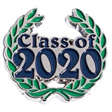 Blue Class of 2020 with Wreath Pin