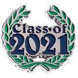 Blue Class of 2021 with Wreath Pin