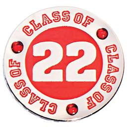 Class of 2021 Award Pin - Red Rhinestones