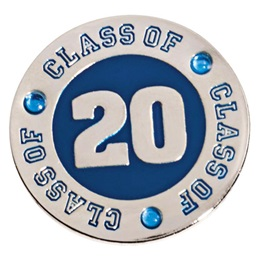Class of 2020 Award Pin - Blue Rhinestones