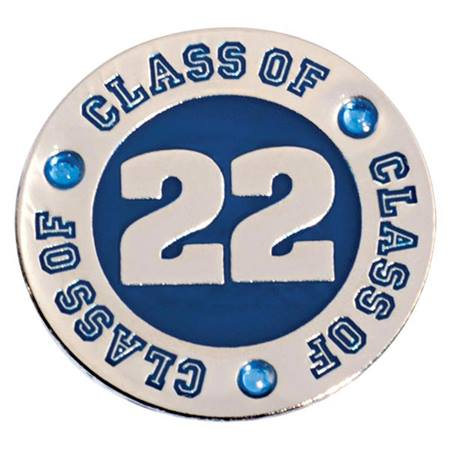 Class of 2021 Award Pin - Blue Rhinestones