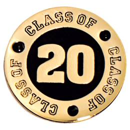 Class of 2020 Award Pin - Black Rhinestones
