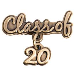 Gold Class of 2020 Dangler Pin
